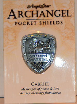 Gabriel Messenger of Peace & Love Pocket Shield Token Pewter Inspirational NIP