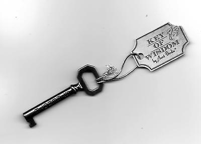 Courage Strength Keys of Wisdom Inspirational Gift Great For Friends Key Chain