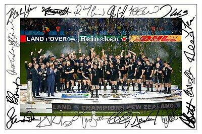 New Zealand All Blacks World Cup Final 2015 Squad Rugby Signed Photo Print