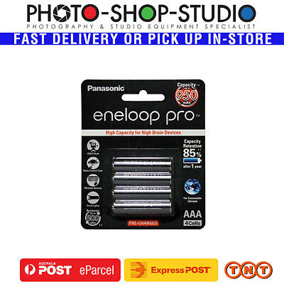 Panasonic AAA eneloop PRO  Rechargable Batteries 950mAh Black pack 4pcs