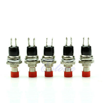 5Pcs New Red High Quality Mini Momentary 2 Pin On Off Push Button Micro Switch