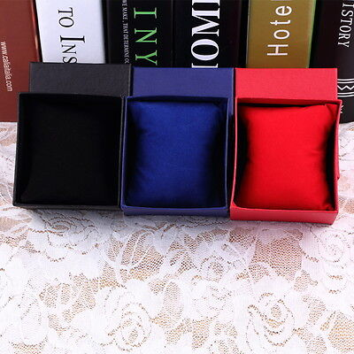 Present Gift Boxes Case For Bangle Jewelry Ring Earrings Wrist Watch Box GO