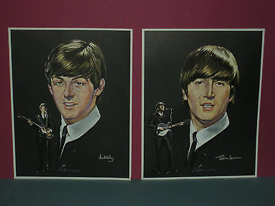 The Beatles 1960s Volpe Color Prints Posters Set Of 4 FAB VINTAGE OLD STOCK SEE