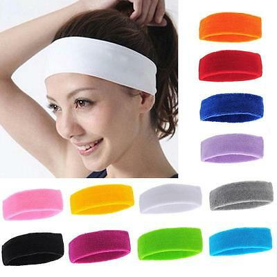 Pop New Women Men Sport Sweat Sweatband Headband Hair Band Yoga Gym Stretch