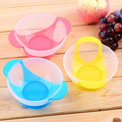 Baby Suction Cup Bowl Slip-resistant Tableware Temperature Sensing Spoon Set GO