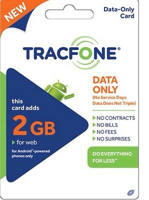 TRACFONE - Android $50 Data Plan Paper 2GB Data