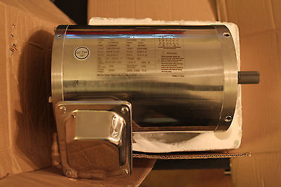Dayton 3/4 HP Washdown Motor 6WY54A, New Old Stock 3 Phase 1155 RPM