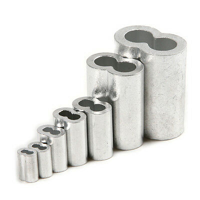 Aluminum Sleeves Wire Clip Fittings Loop Sleeve Cable Crimps M1.5 /2/2.5/3/4/6/8