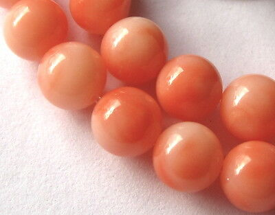 30 Beautiful Small Angel Coral Vintage Beads