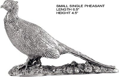 Sterling Silver Figurine Of A Pheasant.   Silver Table Model Pheasant