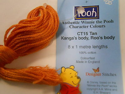 "Winne the Pooh Character Colours Stranded Cotton ""Kanga's &,Roo's body"" CT15 Tan"