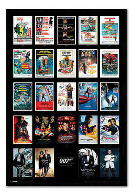 Framed James Bond 007 Movie Posters Including Spectre Poster New