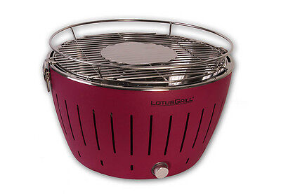 Lotus Grill Standard Purple BBQ Barbecue Smokeless Cooking Outdoor Portable