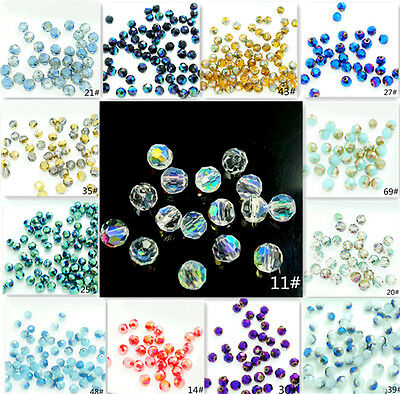 Wholesale 200PCS  ROUND crystal glass jade Loose Spacer 4mm 70colors HOT
