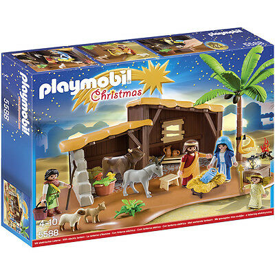 Playmobil Christmas Nativity Stable With Manger 5588 NEW