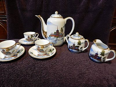 Vintage Marked Kutani Original Japanese Tea Set