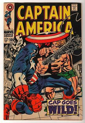 MARVEL Comics VFN- 7.0   issue Avengers 106 Red Skull  Captain america 1969