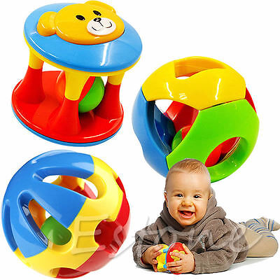 Musical Grasp Handbell Developmental Ball Bed Bell Toy Rattle for Kids Baby