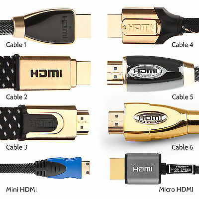High Speed HDMI Cable 0.5m-10m 24k Gold Connectors V2.0 Lead Full HD 3D 1080p 4K