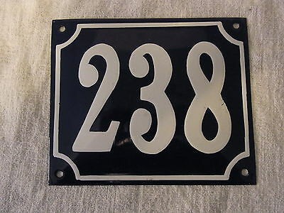 Vintage German Enamel & Iron Sign Blue House 238  #B