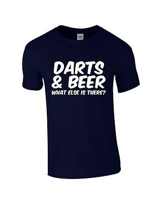 Darts & Beer What Else Is There? T Shirts Gildan 10 Colours Fast Post!