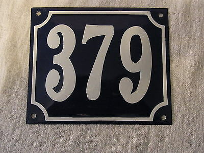Vintage German Enamel & Iron Sign Blue House 379 #B