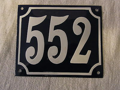 Vintage German Enamel & Iron Sign Blue House 552 #B