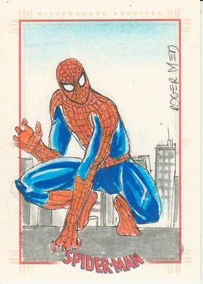 Spider-Man Archives -  Medeiros Sketch Card of Spider-Man