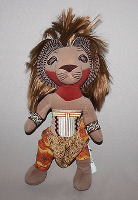 "The Lion King 13"" Stuffed Simba Disney Broadway Musical Bean Bag Plush Doll Toy"