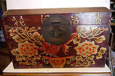 Vtg Chinese Asian Small Decorated Chest