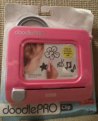 Fisher Price Doodle Pro Clip Magnetic Drawing Travel & Portable Pink Chp52 *new*