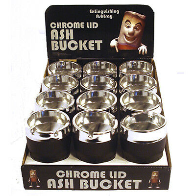 Partyland Ash Bucket - Small - With Chrome Lid - Ashtray - x 2