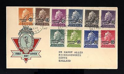 6331-AUSTRALIA-FIRST DAY COVER CHRISTMAS ISLAND to HERTS (england) 1958.BRITISH