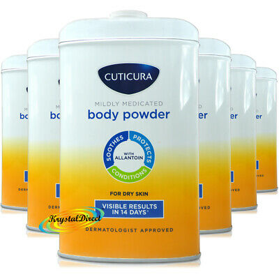 6x Cuticura Mildly Medicated Talc Talcum Powder Skin Soothing Allantoin 250g