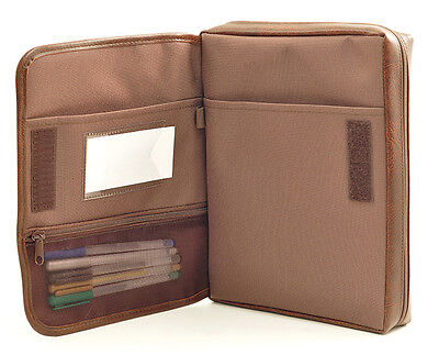 Leather-Look Bible Cover Organizer, Brown, Extra Large