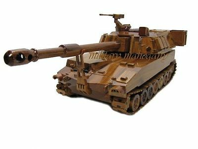 M109 M109A6 Paladin Howitzer Tank Field Artillery Mahogany Wood Wooden Model New