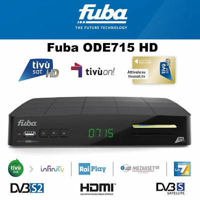 TivuSat Fuba ODE713 HD Decoder and Smartcard *