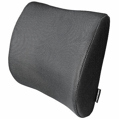 Black Memory Foam Lower Back Lumbar Posture Support Seat Cushion Car/home/office