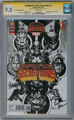 DEADPOOL'S SECRET WARS #1 PX C2E2 CGC 9.8 SIGNATURE SERIES SIGNED x2 BUNN MOVIE