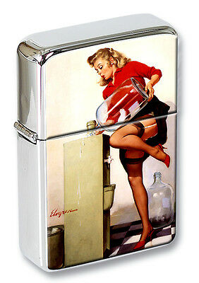 A Refreshing Lift Vintage Pin-up Girl Flip Top Lighter