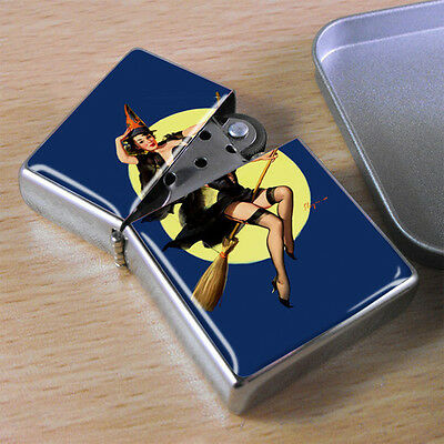 Pin-up Witch Flip Top Lighter