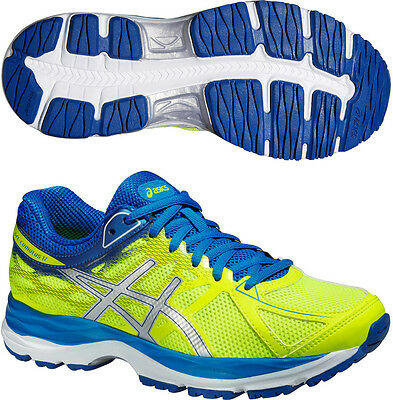 Asics Gel Cumulus 17 GS Junior Running Sports Fitness Trainers Shoes Boys Yellow