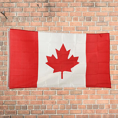 New Design 3'x5' Ft National Canada Canadian Maple Leaf Flag Polyester Grommets