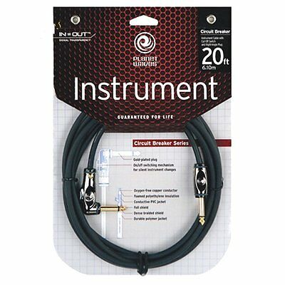 Planet Waves PW-AGRA-20 Circuit Breaker Guitar Cable/Lead, Str-Ang 20ft