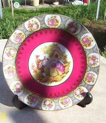 Beautiful Vintage  Bavaria Germany Courting Couples Display Plate