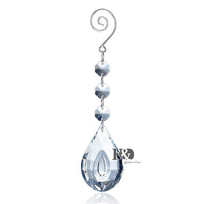 Clear New loquat Suncatcher Hanging Crystal Rainbow Prism Feng Shui Pendant 50mm