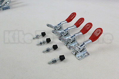 4PCS Hand Tool Metal Holding Capacity Latch Type Toggle Clamp GH-201A  USA
