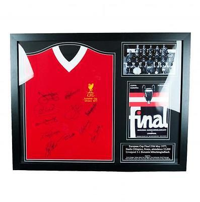 Liverpool F.C - Framed Signed Replica 1977 Liverpool Shirt