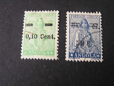 Angola, Scott # 272+299, Various Surcharged Values 1938-45 Ceres Issues Used