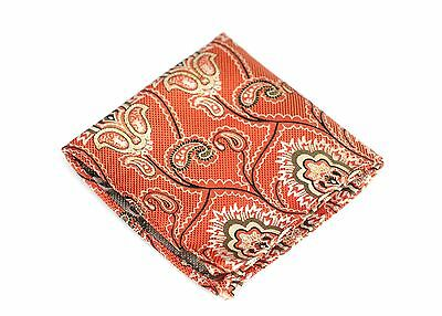 $75 New Galapagos Lime Pink Silk Lord R Colton Masterworks Pocket Square